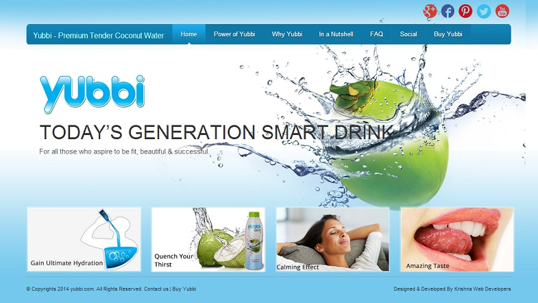 Yubbi Coconut Water