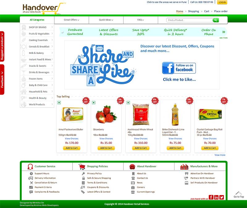 Handover online grocery