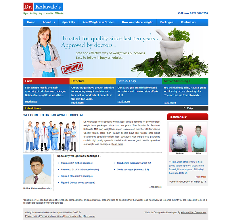 clinic website design in pune india