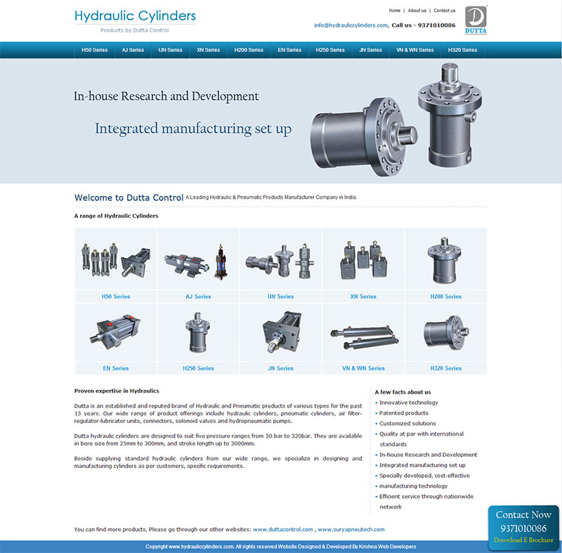 industrial company website design in pune india