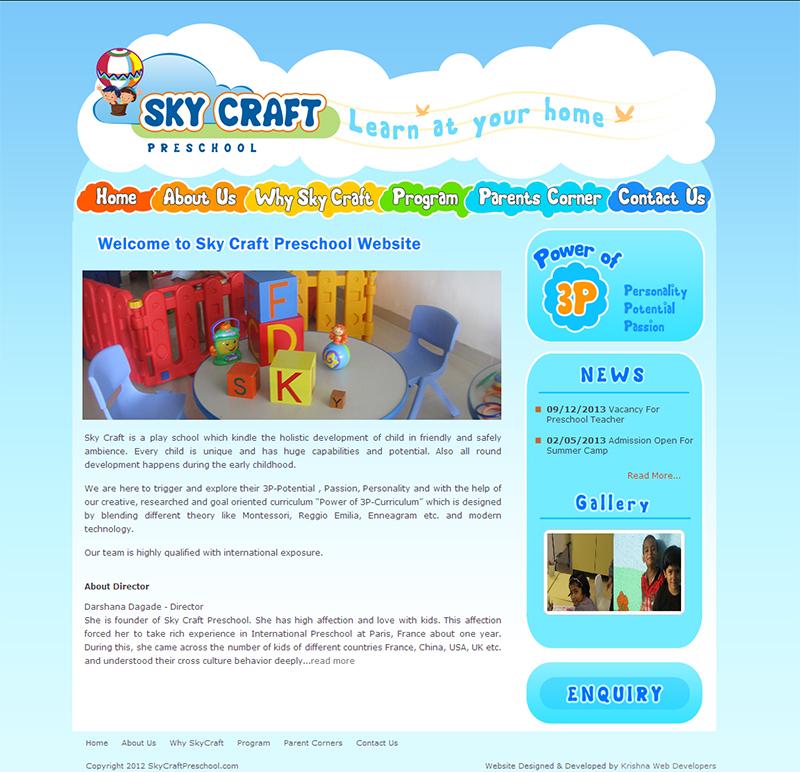 kids school website design in pune india