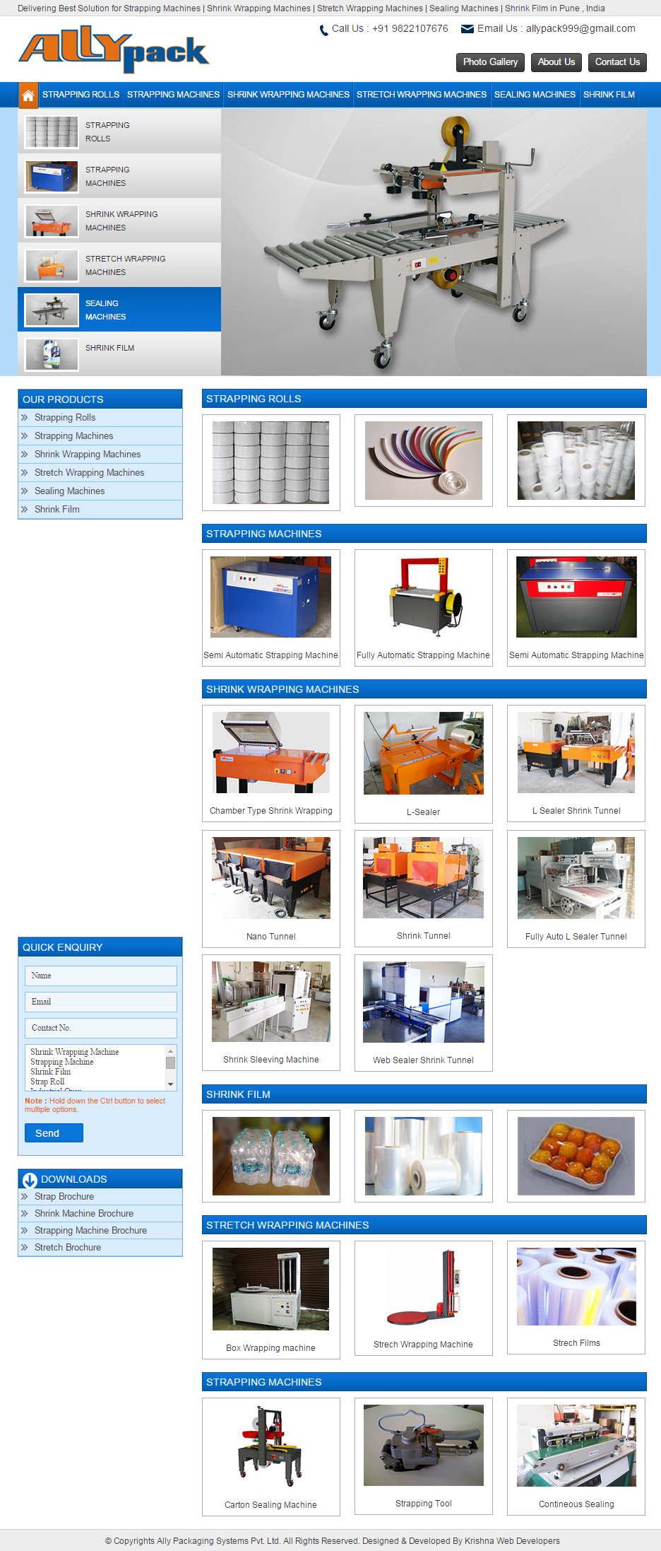 Manufacturing Company Website Design in Pune