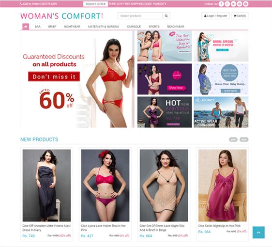 Online shopping ecommerce website development in pune