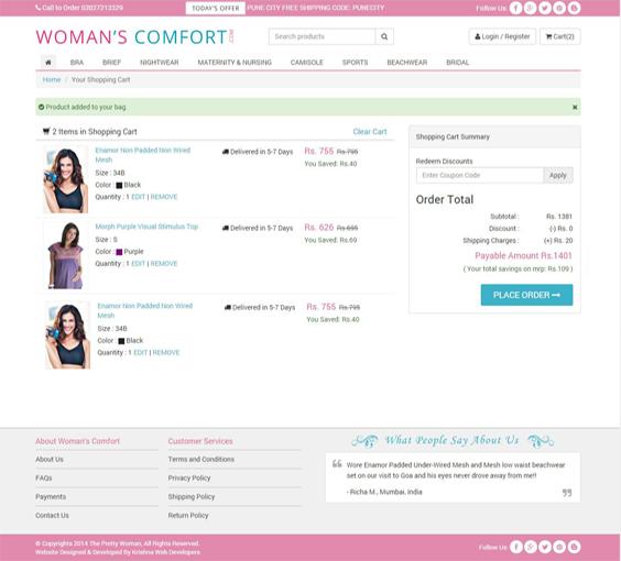 latest shopping cart for ecommerce website development in pune